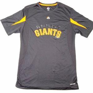 Majestic Mens Black San Francisco Giants Cool Base
